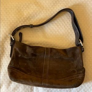 Coach brown suede purse